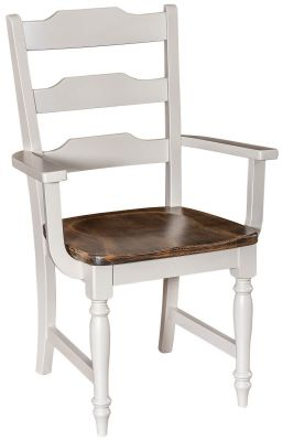 Webb City Ladder Back Arm Chair