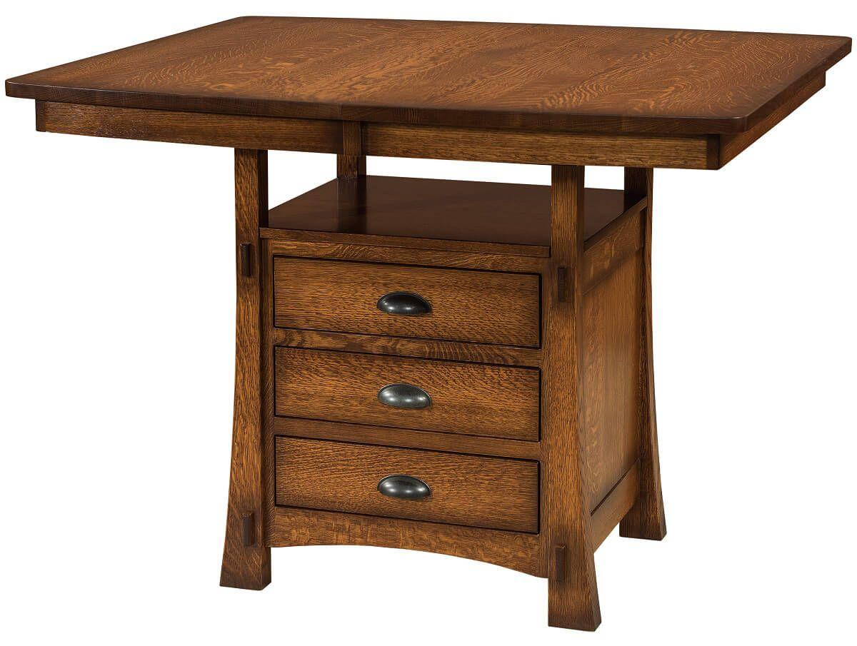 Everest Pub Cabinet Table