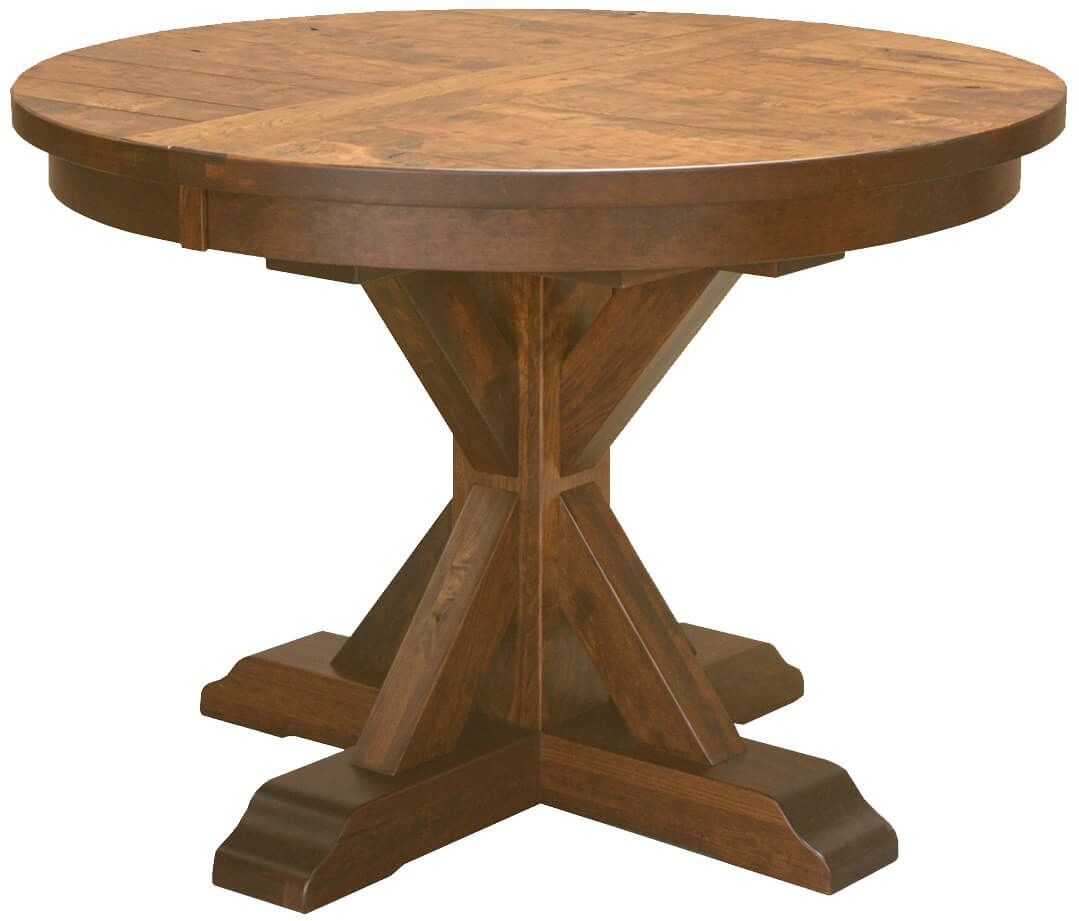 Rustic Round Kitchen Table: Hotchkiss Rustic Round Kitchen Table