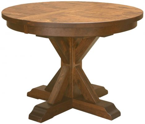 Hotchkiss Rustic Round Kitchen Table Countryside Amish Furniture