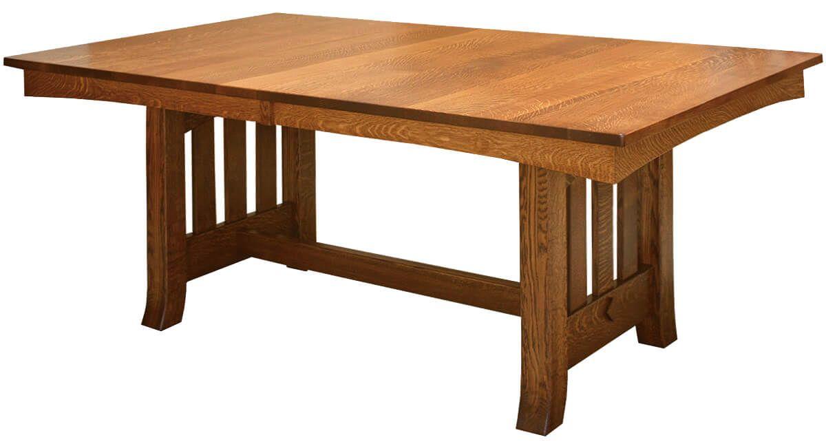 Alicia Mission Trestle Table