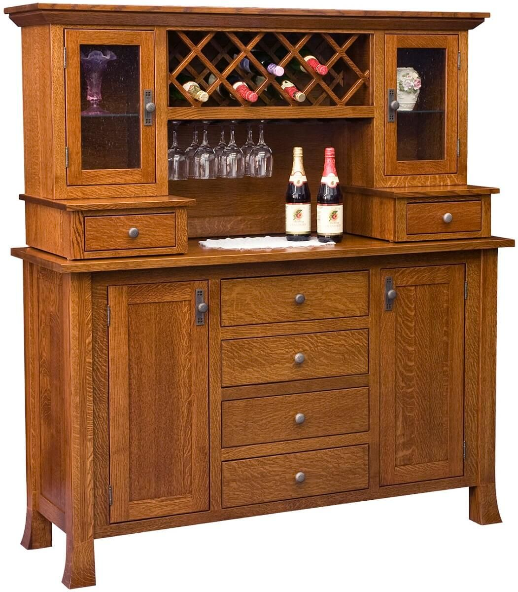 Alicia Wine Cabinet with Hutch