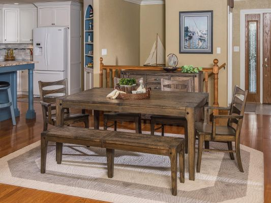 Ann Arbor Industrial Dining Room Table - Countryside Amish Furniture