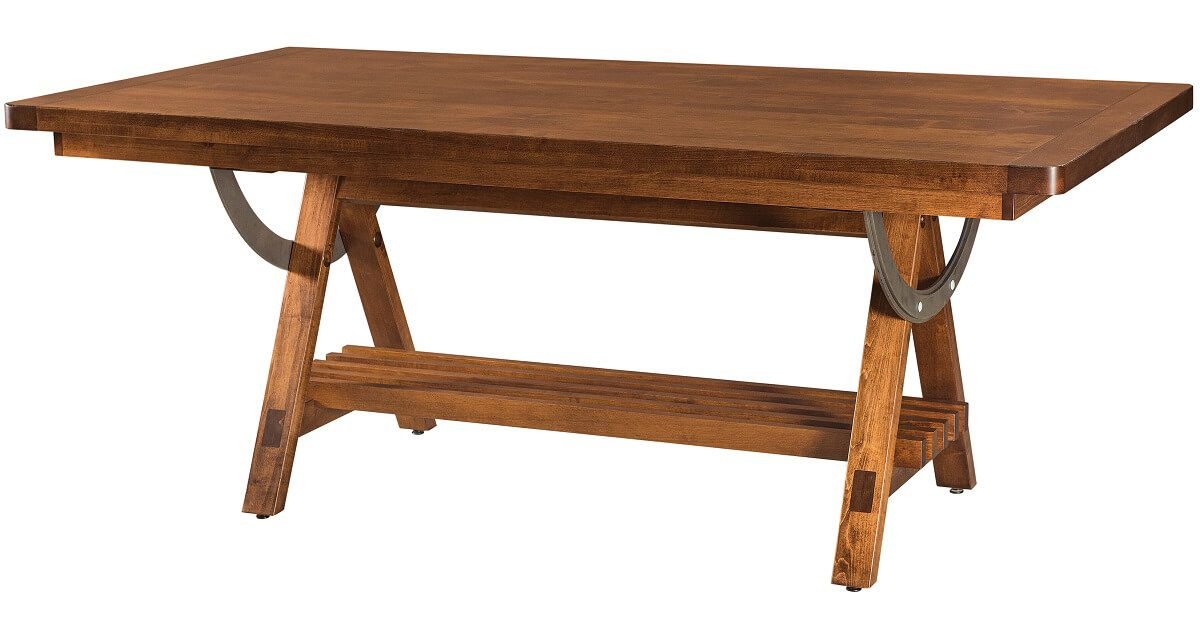 Fort Collins Industrial Trestle Table Countryside Amish