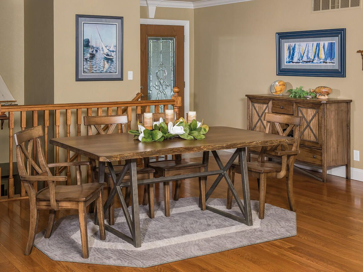 Gaffney Live Edge Dining Set
