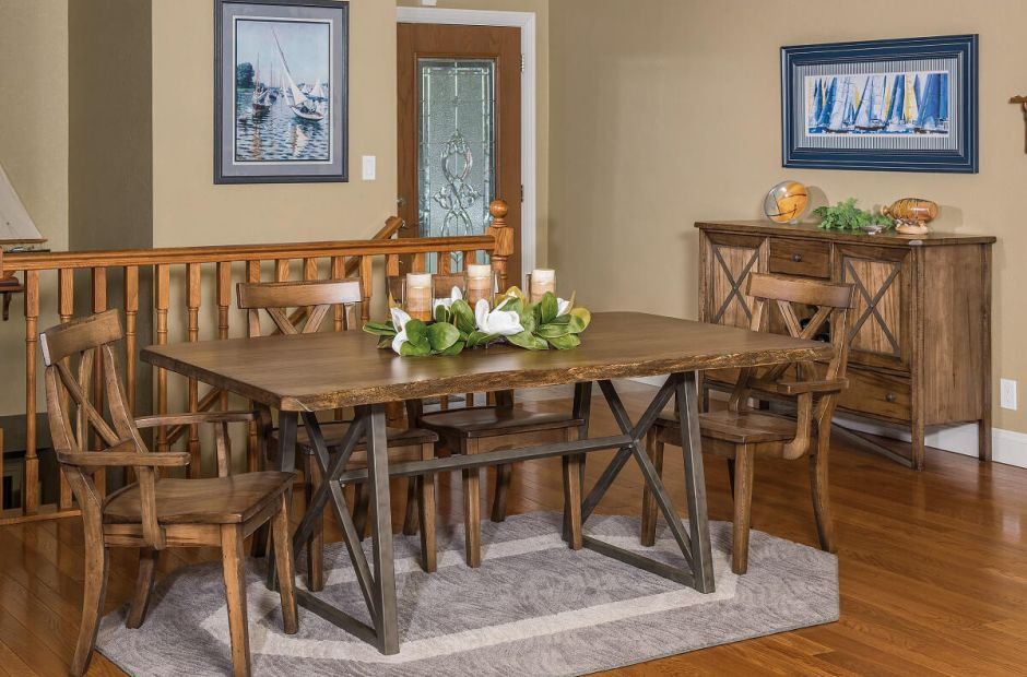 Gaffney Live Edge Dining Set image 1