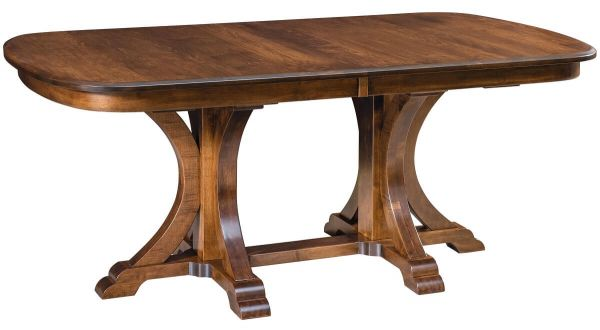 Cruger Double Pedestal Table