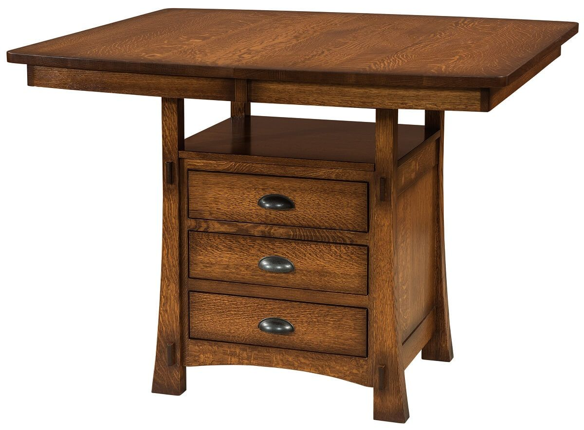 Everest Pub Cabinet Table