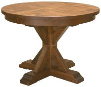 Hotchkiss Rustic Round Kitchen Table