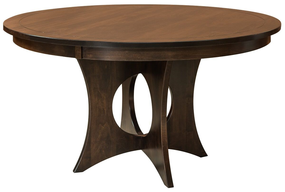Nara Round Modern Table in Cherry
