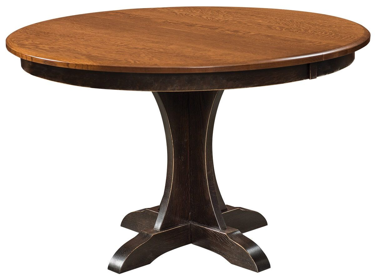 Amish Made Round Pedestal Table