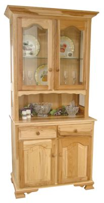Belle Hearth Country China Cabinet in Hickory