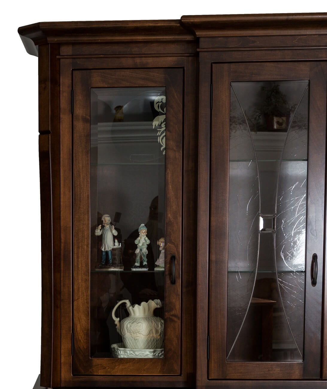 Cannon Court China Cabinet Lead Glass Detail