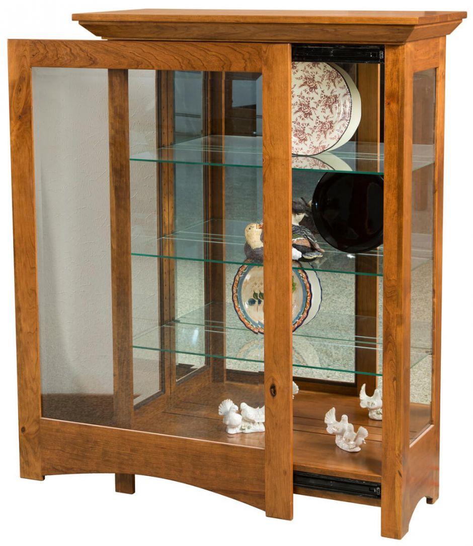 Argos Sliding Door Curio Cabinet Countryside Amish Furniture