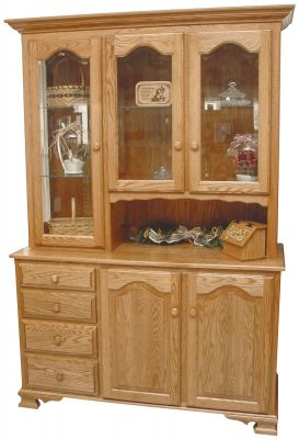Belle Hearth 3-Door Country Hutch in Oak
