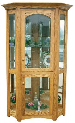 Cabiria Canted Curio shown in Oak
