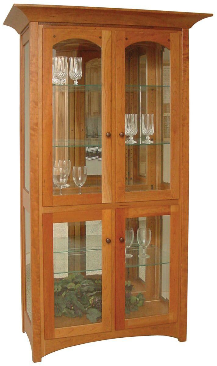 Cabiria Curio Cabinet shown in Cherry