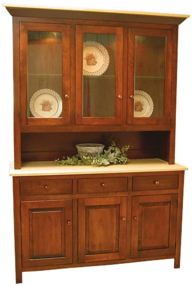 Two-toned Cutler Bay China Cabinet