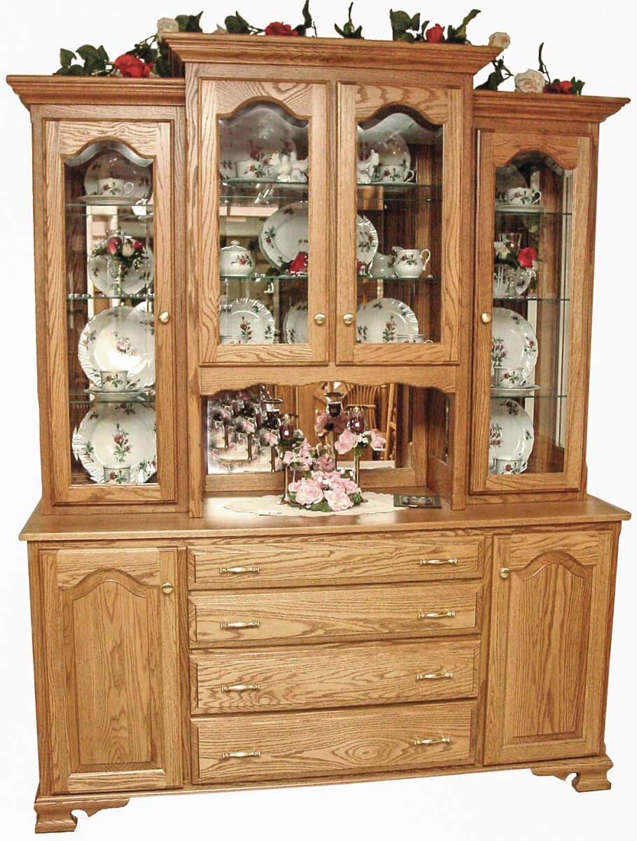 Dolly Traditional China Hutch in Oak