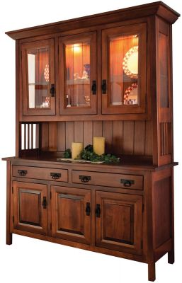 Garcia 3 Door Mission Style Hutch Countryside Amish