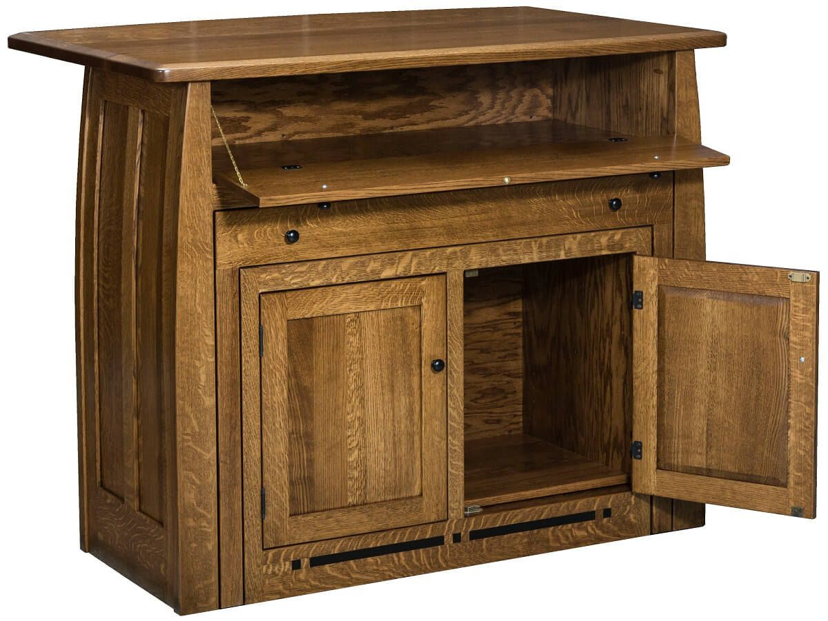 Solid Wood Pull Out Island Table