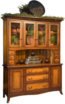 Torrey Amish China Cabinet in Sandlewood Finish