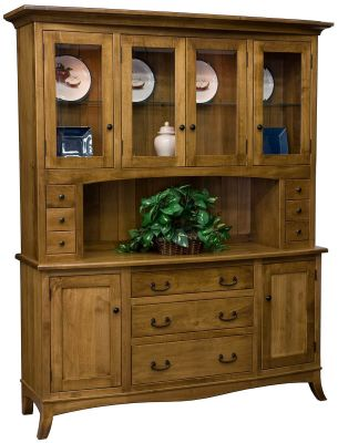Torrey Amish China Cabinet in Spiced Apple Finish