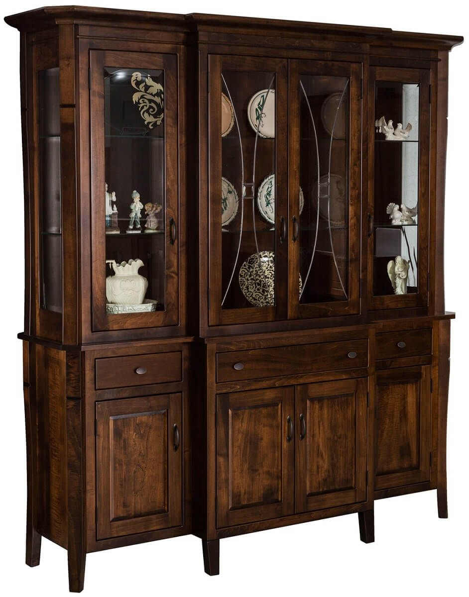 Cannon Court China Cabinet in Brown Maple