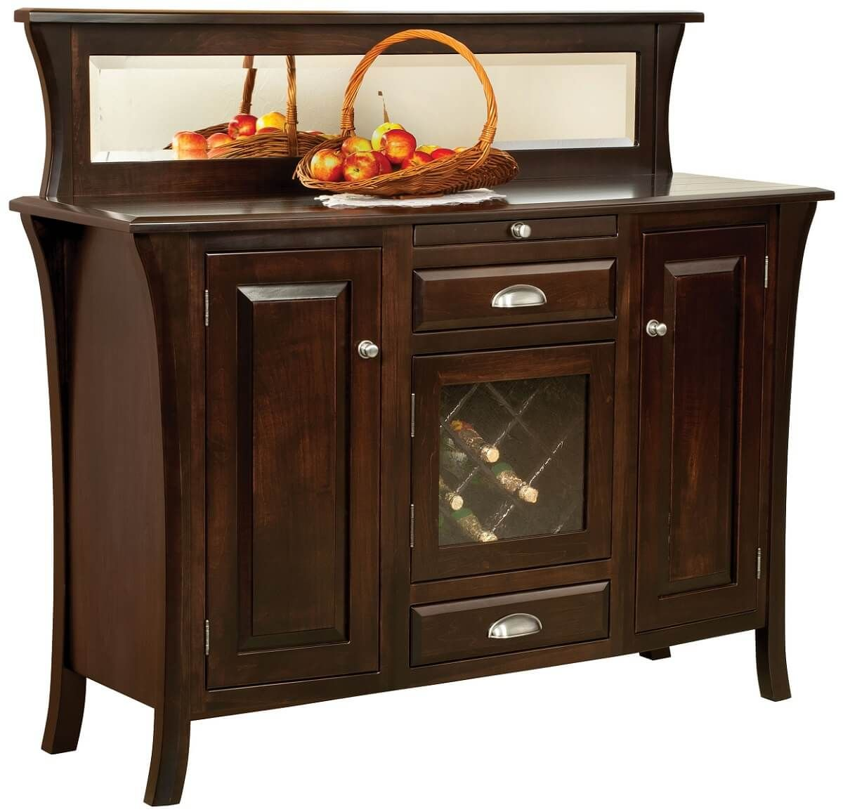 Moroni Modern Wine Buffet in Brown Maple