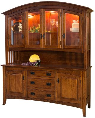 Mountain Park China Hutch in Cherry