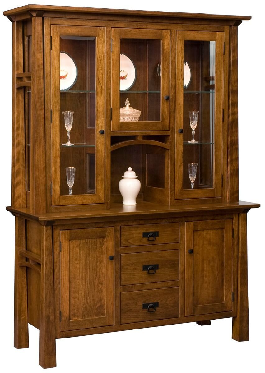 Nuestra Mission China Cabinet in Cherry