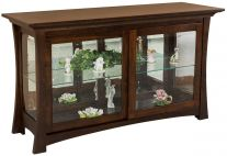 Rhodes Glass Curio Buffet
