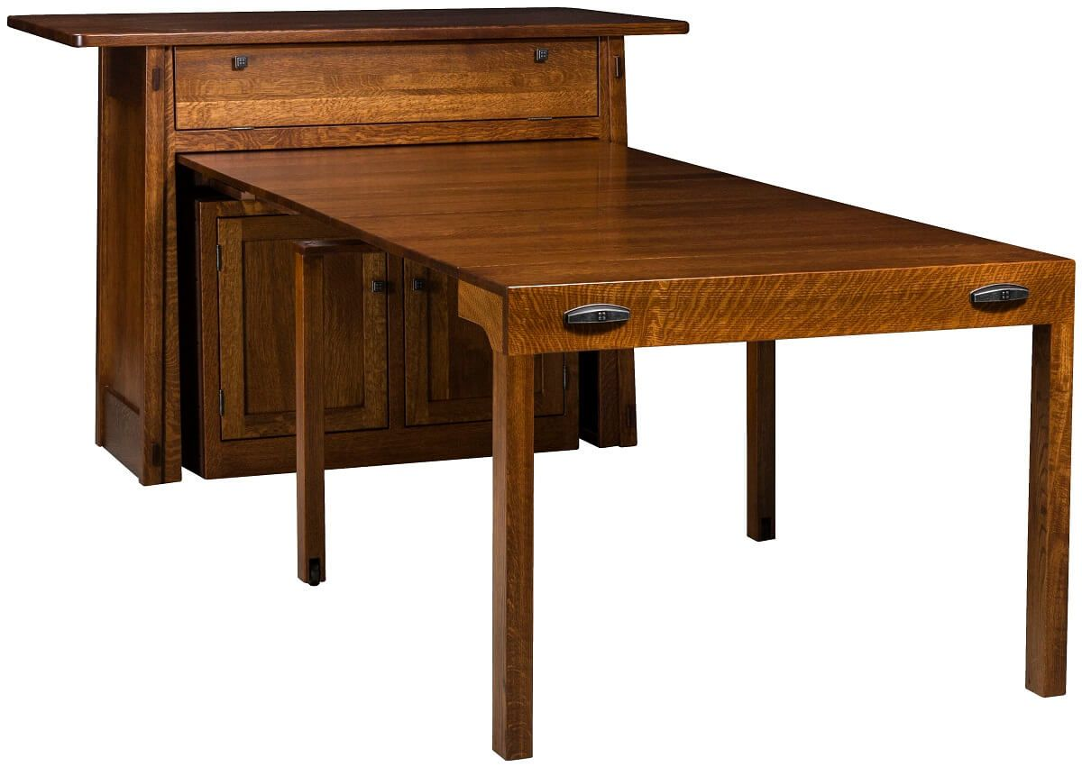 Rosales Kitchen Island with Pull Out Table - Countryside Amish