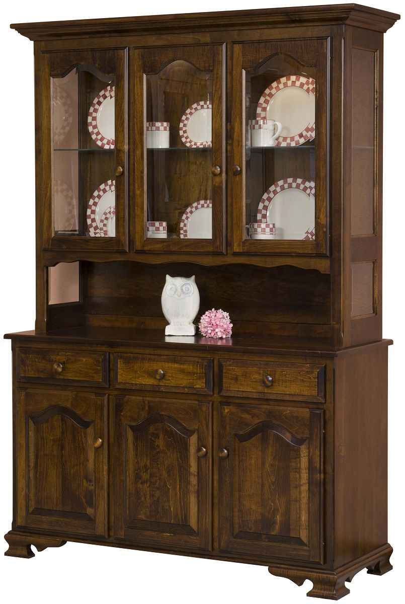 Brown Maple China Cabinet