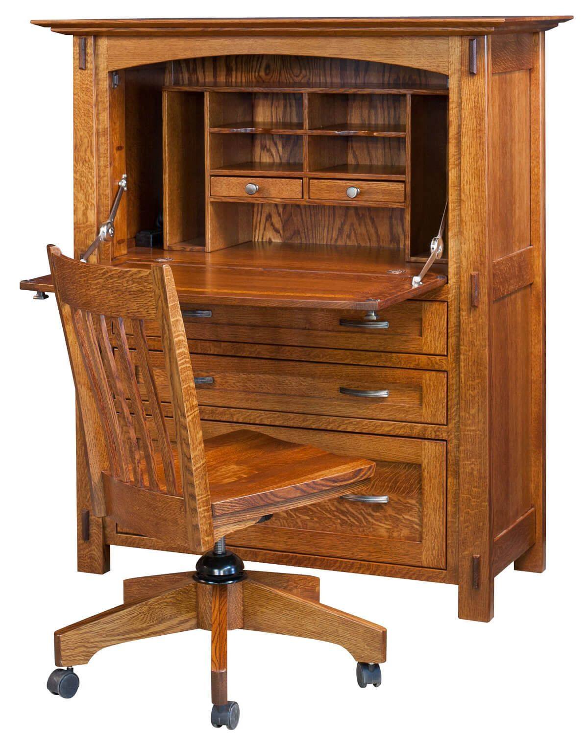 windsor solid oak furniture hidden mayan secretary desk opened atlas oak hidden home