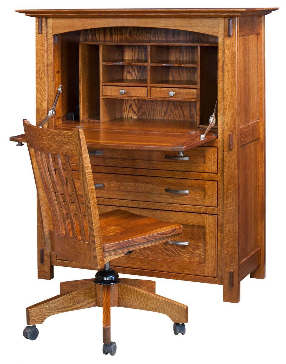 Mayan Secretary Desk Opened