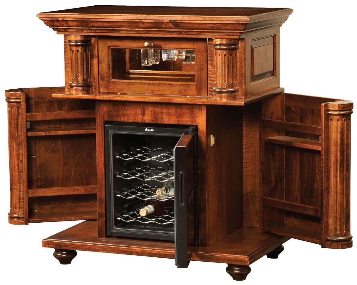 Wood Wine Cabinet with Bottle Storage