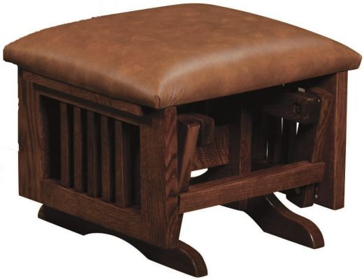 Deltana Gliding Ottoman with Leather Cushion
