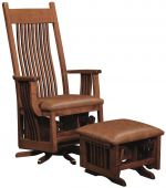 Deltana Wooden Swivel Glider