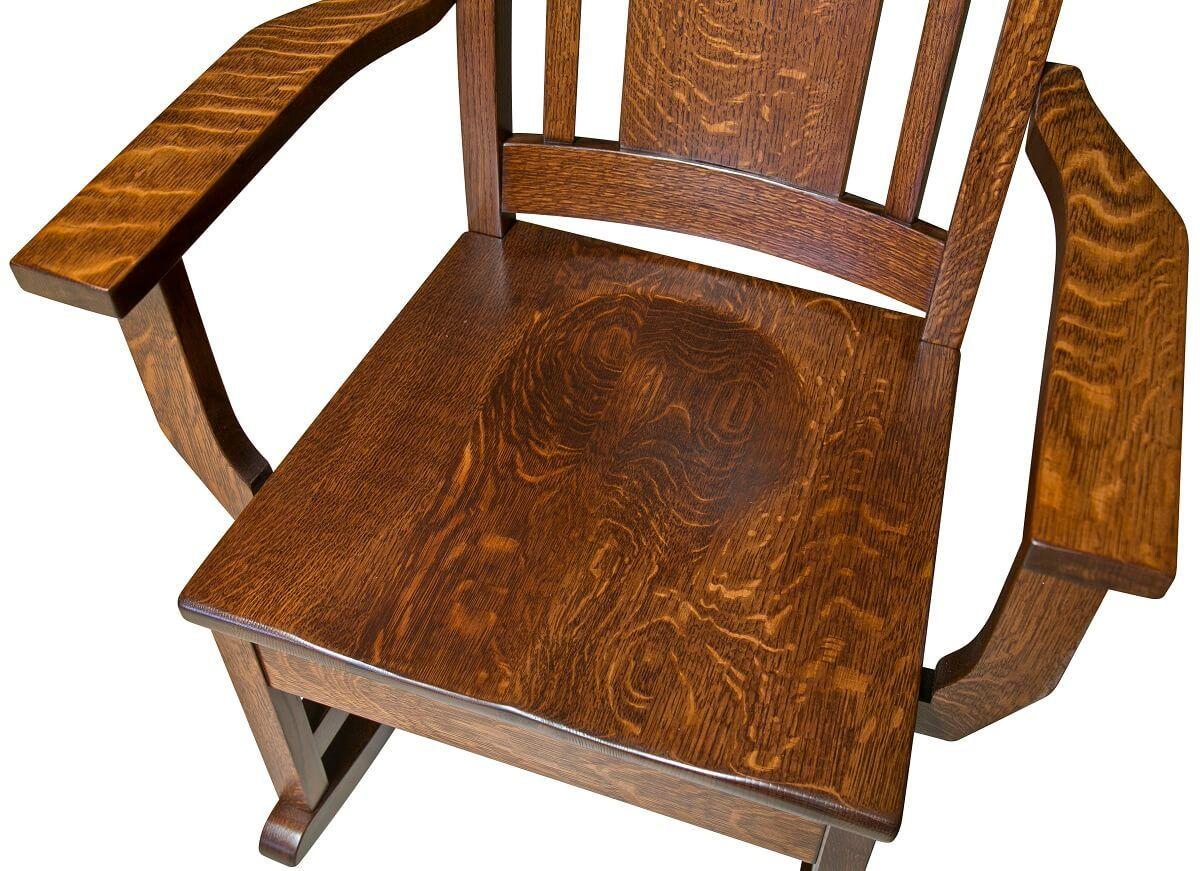 Wooden Scooped Rocker Seat