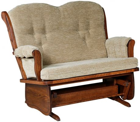 Kiana Loveseat Glider in Oak