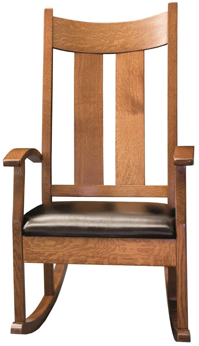 Rocker with Leather Seat