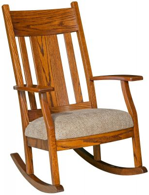 Mescolero Solid Oak Rocker