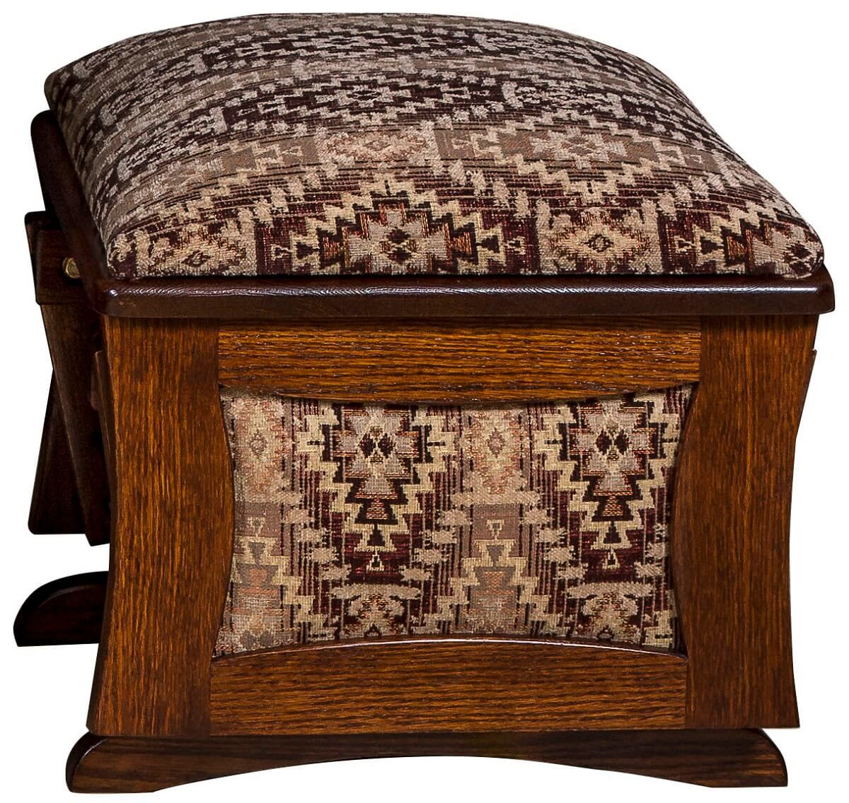 Solid Wood Upholstered Footrest