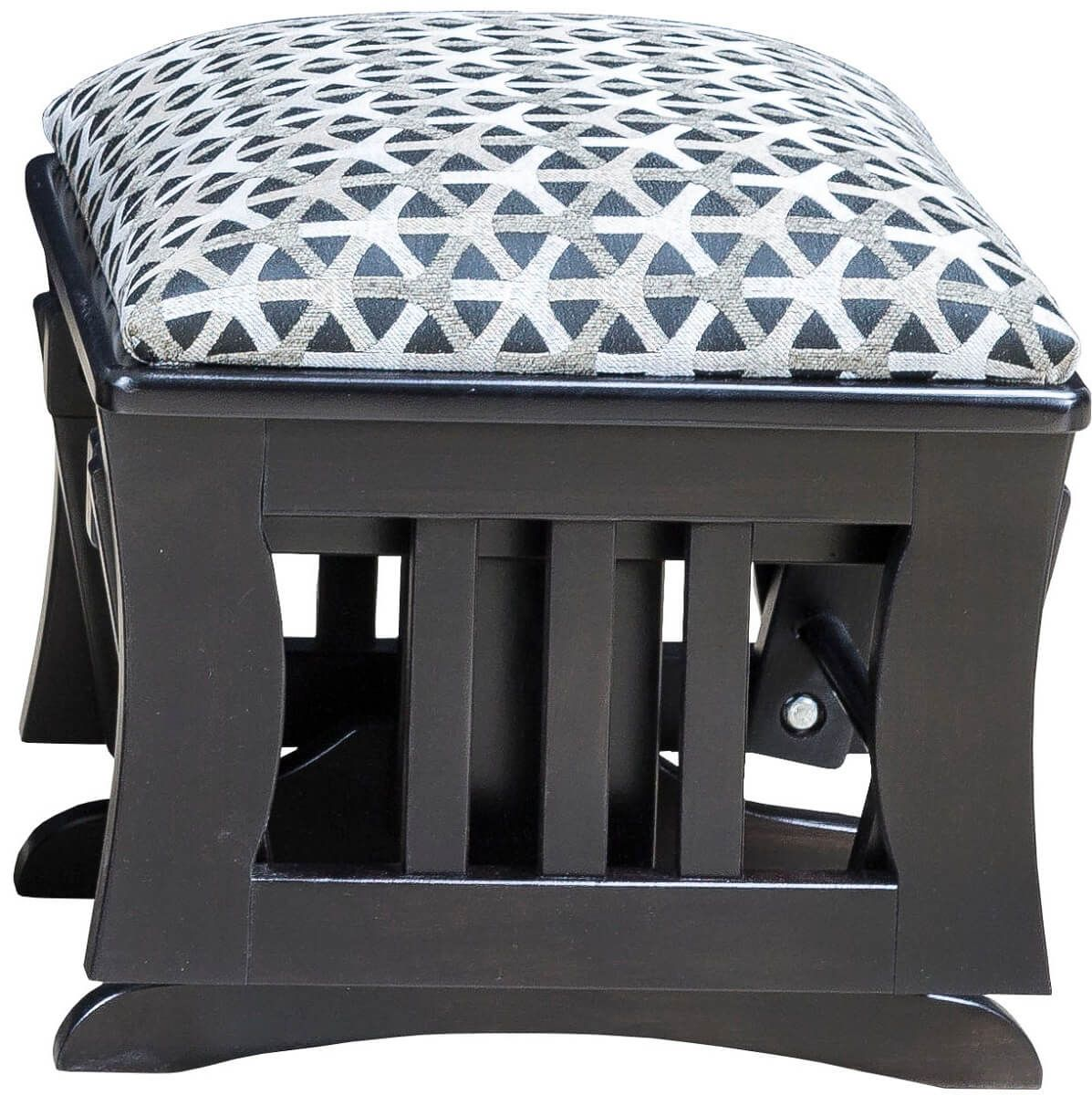 Painted Gliding Ottoman