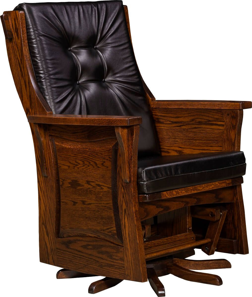 Newville Paneled Swivel Glider