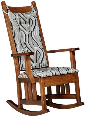 Rocking Chair with Snap-On Cushions