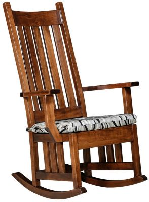 Amish Rocker with Seat Cushion