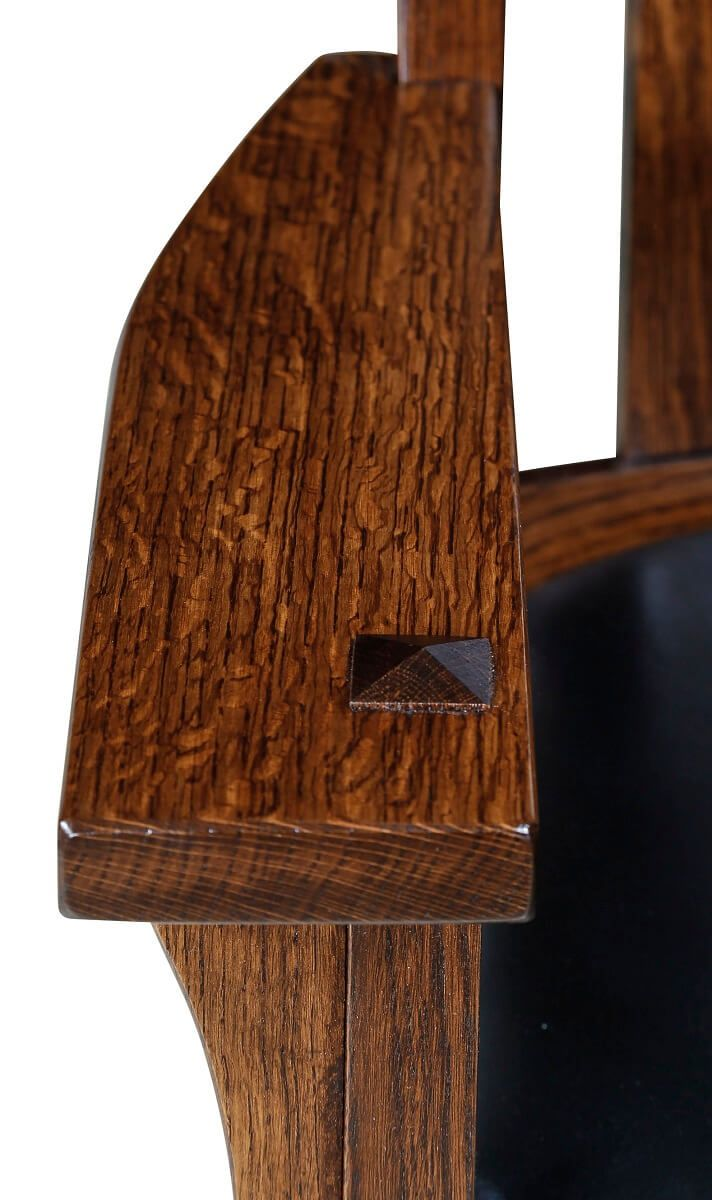 Quartersawn White Oak Chair Arms