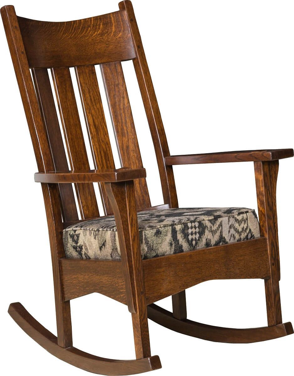 Rocking Chair with Fabric Seat